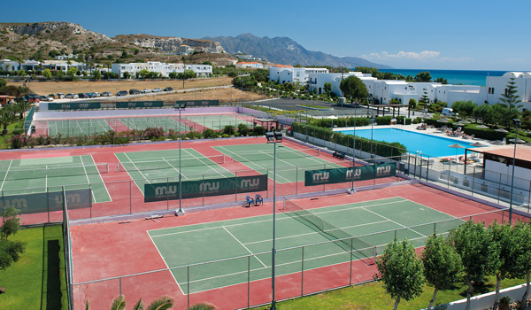 Tennis courts in Kos